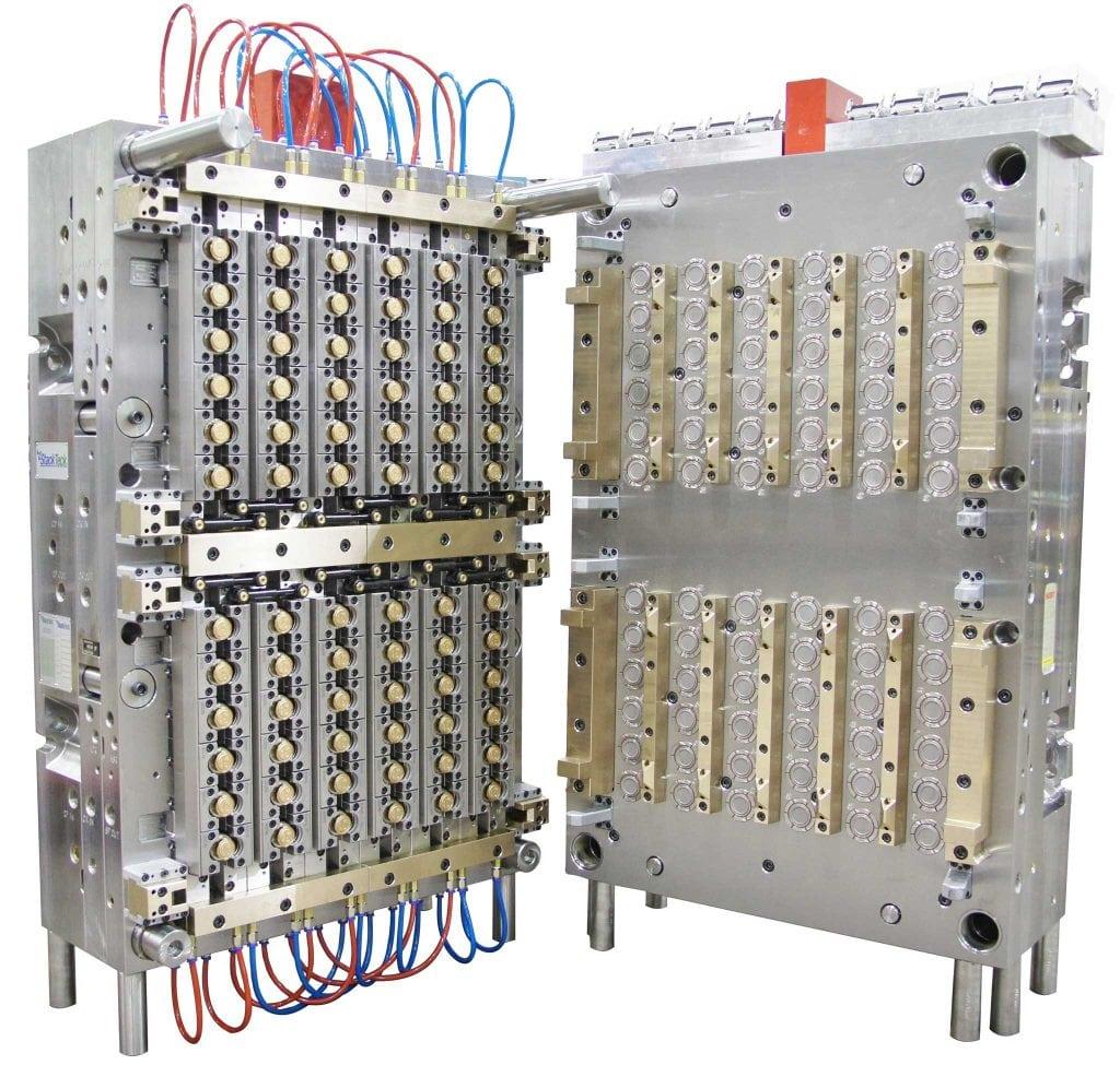 射出金型   ヒンジクローズ成形 (HMC) フリップトップ金型   StackTeck