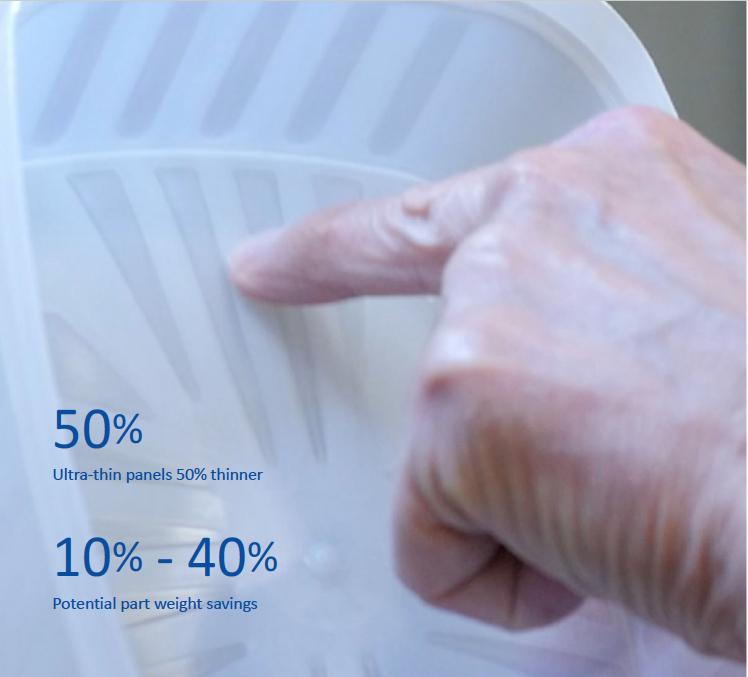 TRIMによる製品重量の削減 | パッケージサステイナビリティのための薄凹射出成形 | StackTeck